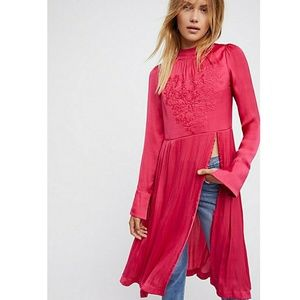 Free People New Day Floral- Embroidered Tunic